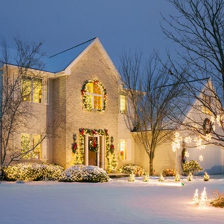 Ideas para decorar un jardín en Navidad