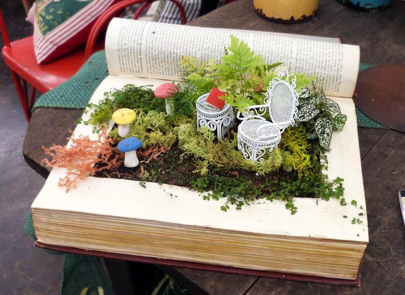 Mini jardines de cuento: un jardín en un libro