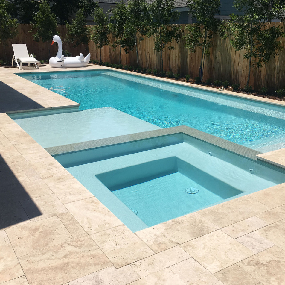 Decoración de jardines con piscina