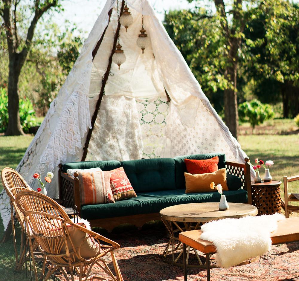 Chill out en el jardín: de aire vintage