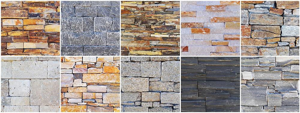 paneles premontados de piedra natural de taco grueso