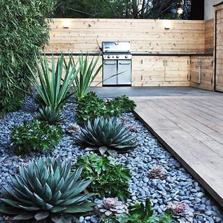 Jardines con piedra decorativa