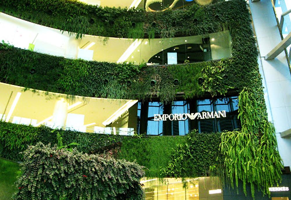 Jardín vertical en Siam Paragon (Tailandia)