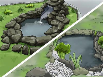 Decorar un estanque