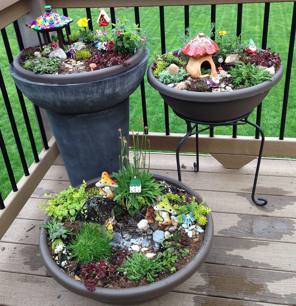 Mini jardines de cuento: un ejército de mini jardines