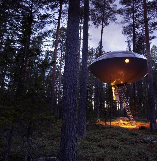 7 impresionantes casas de árbol: el ovni