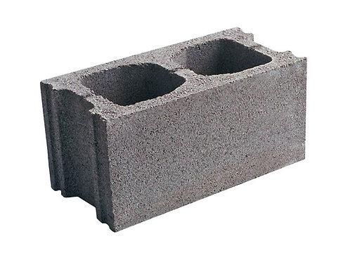 Bloque prefabricado de hormigón gris liso