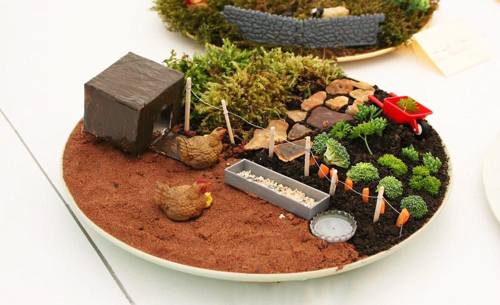 Mini jardines de cuento: una granja en miniatura