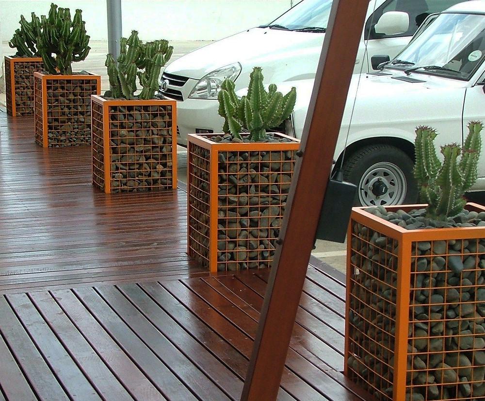 Decoración de jardines con gaviones