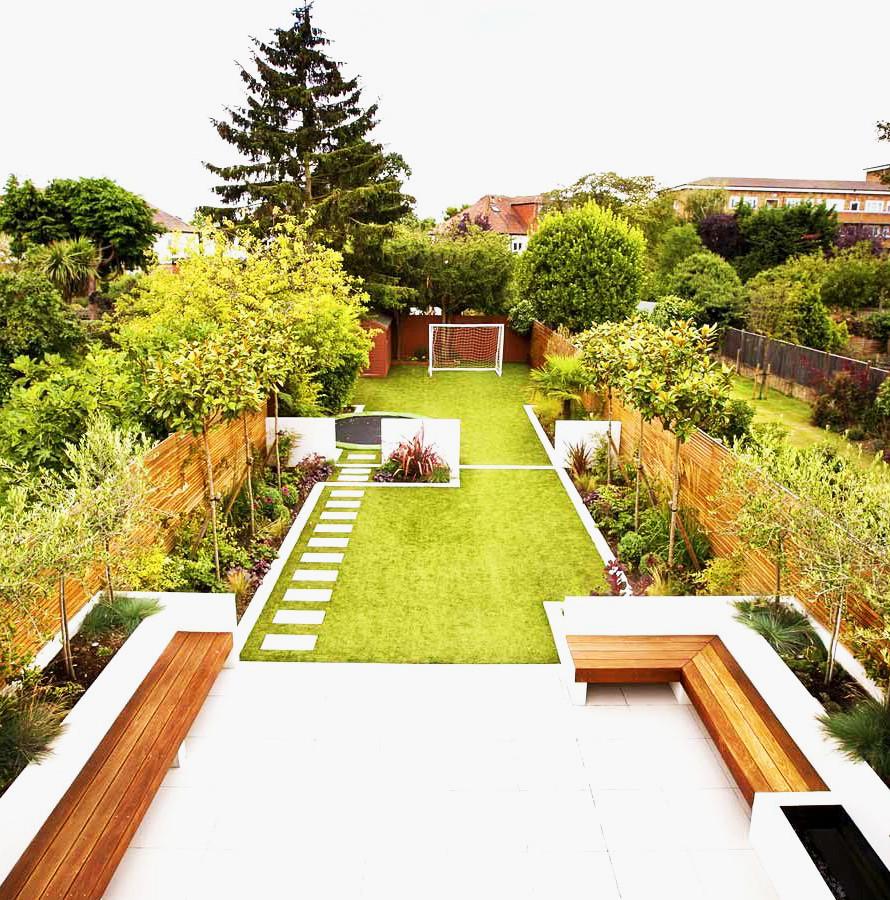 Decorar jardines grandes