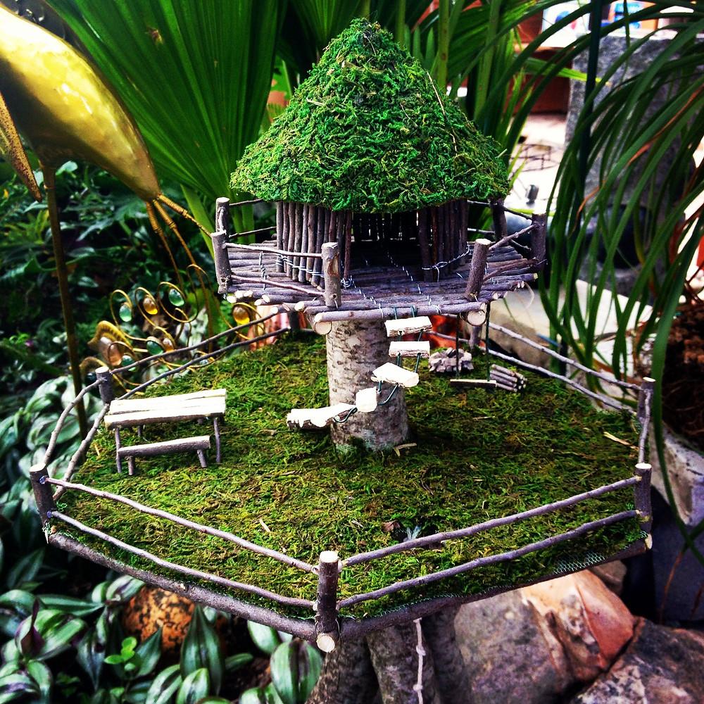 Mini jardines de cuento: una casa en altura