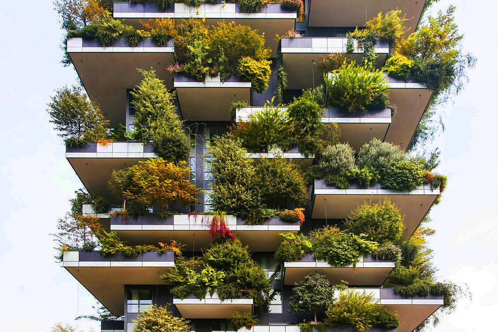 Jardín vertical Bosco Verticale (Italia)