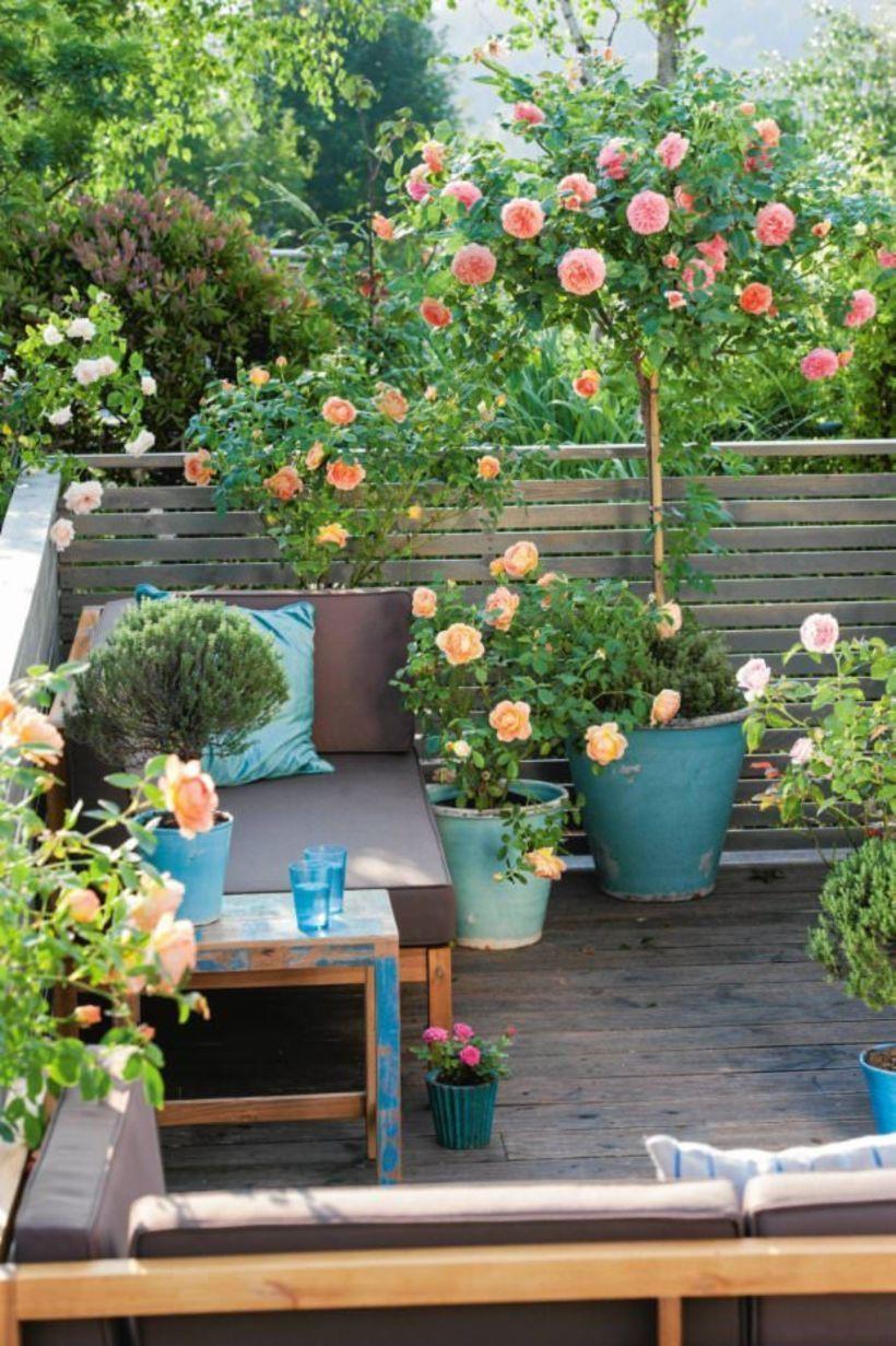Trucos para decorar un jardín pequeño: Aprovecha las esquinas