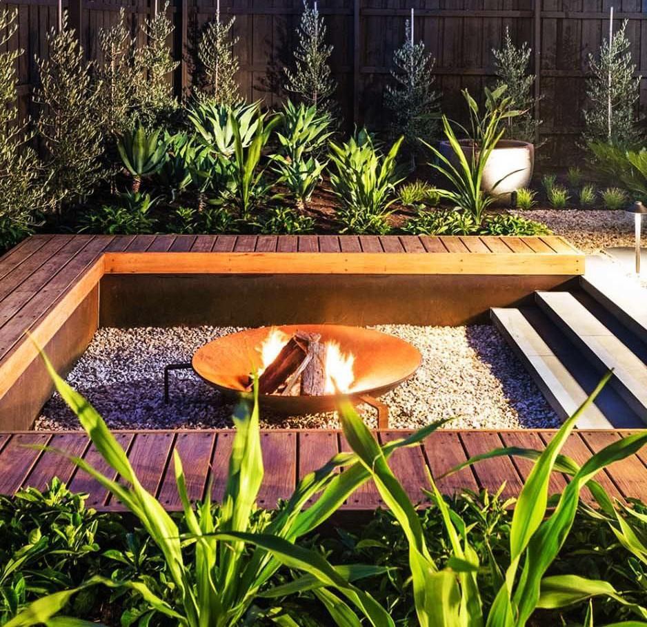 Poner una chimenea en el jardín: una chimenea casera