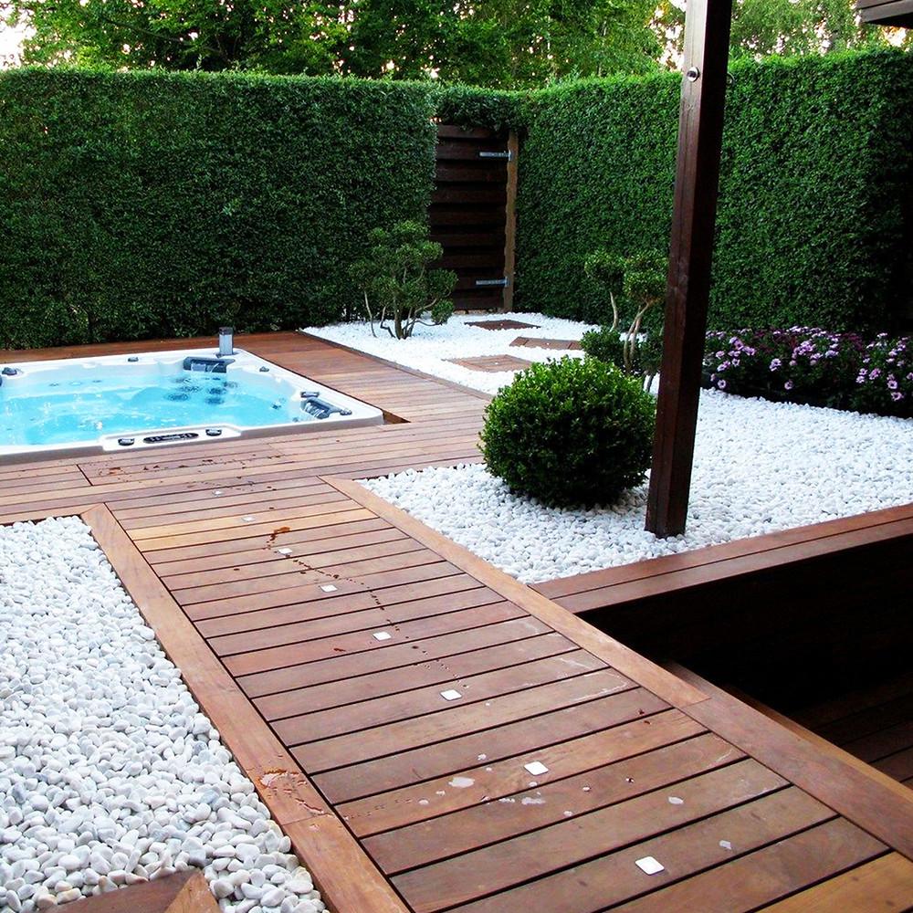 Ejemplo de jardín con piedras decorativas