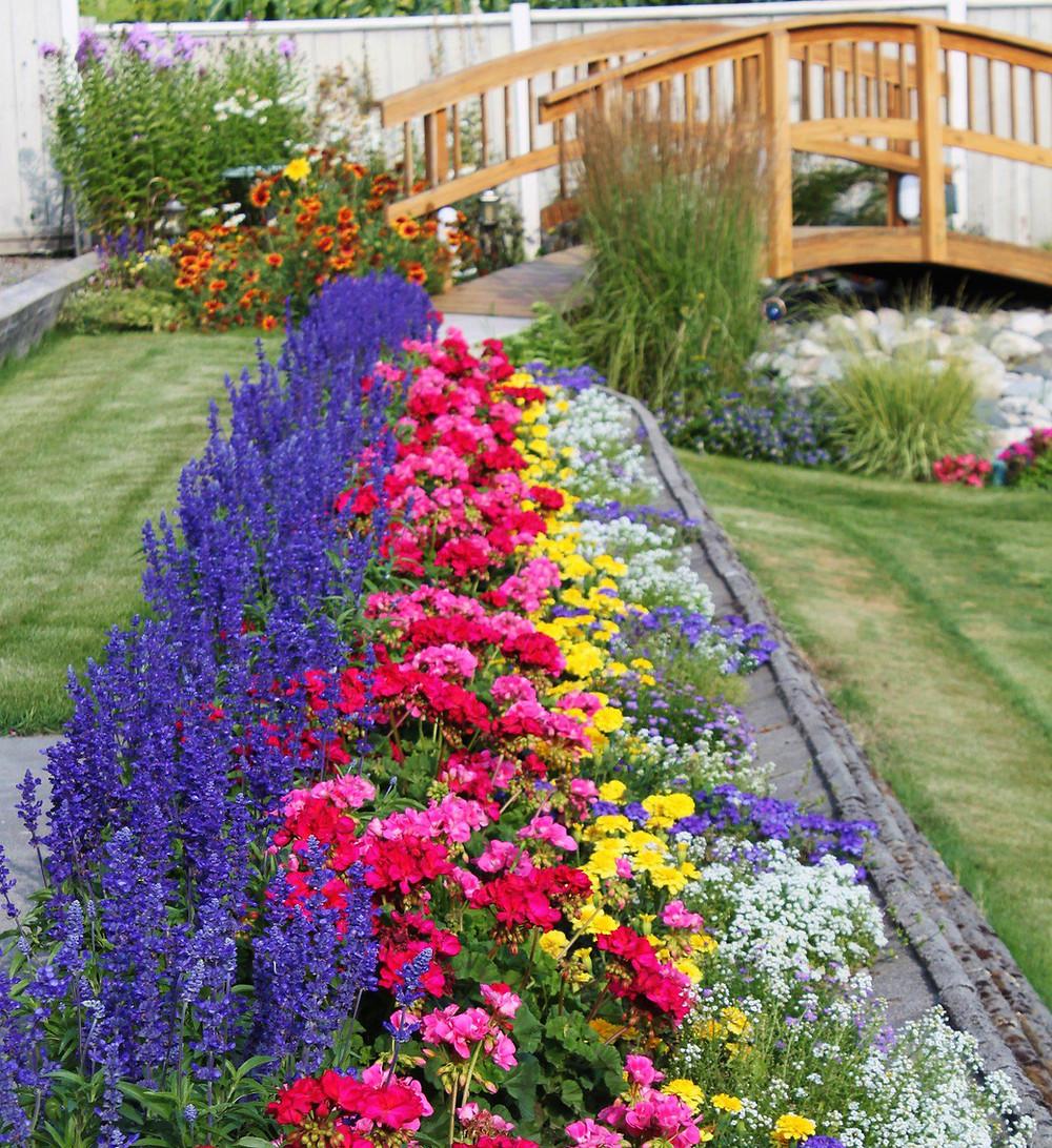 Ejemplo de arte floral de jardín