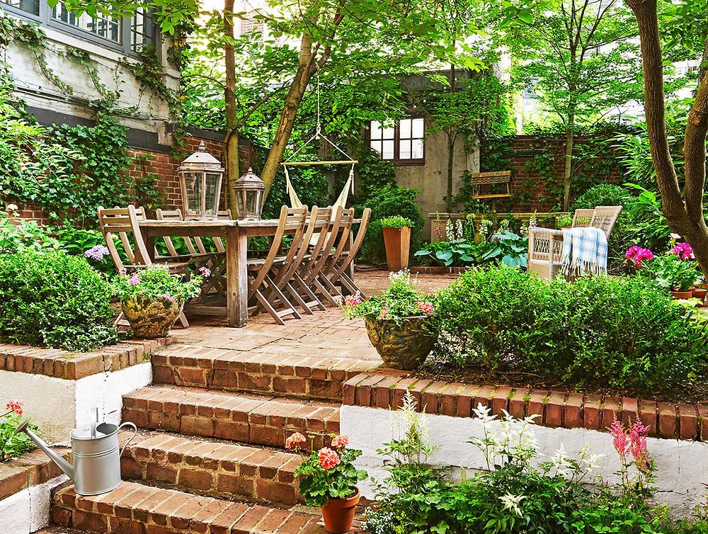 Chill out en el jardín: rústico