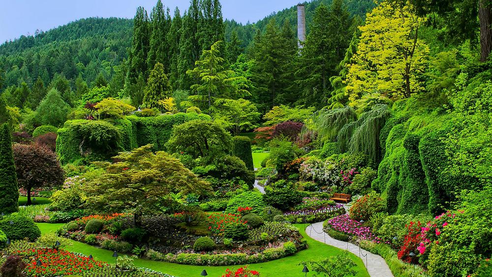 Jardines más bonitos del mundo: Jardines de Butchart (Canadá)
