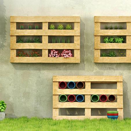 Ideas de decoración con palets: hacer un pequeño jardín o huerto urbano