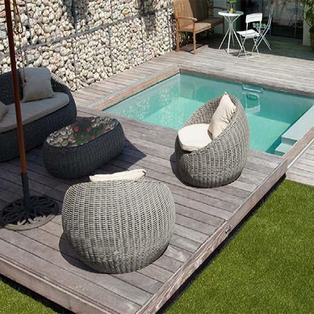 10 mini piscinas en jardines pequeños