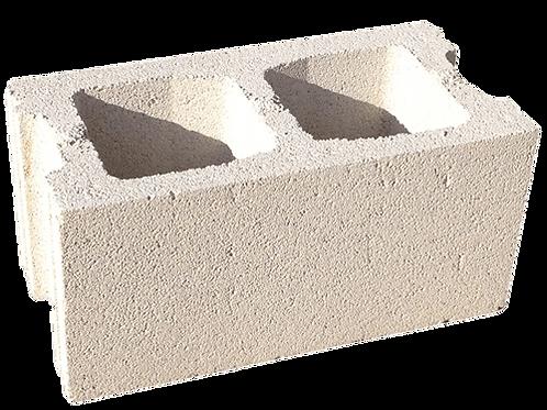 Bloque prefabricado de hormigón blanco liso