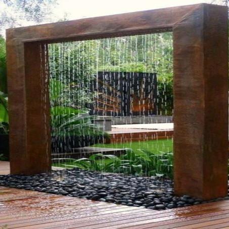 La fuente perfecta para un jardín minimalista