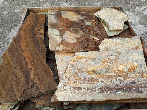 Piedra irregular madera