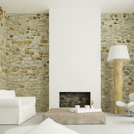 Ideas para decorar con piedra irregular