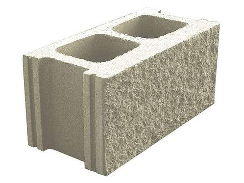 Bloque prefabricado de hormigón blanco split