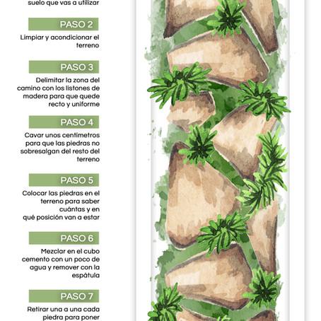 Infografía: Cómo hacer un camino de piedras en el jardín