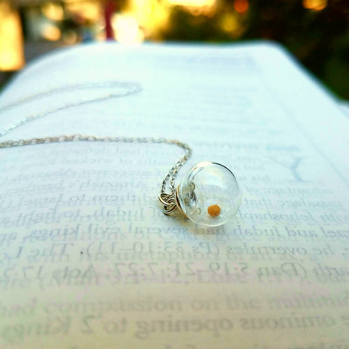 Mustard seed necklace, Sterling Silver