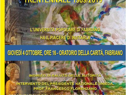 Trentennale dell'Università Popolare di Fabriano 1989/2019
