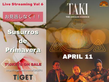 TAKI Live Stream vol.6 開催決定!