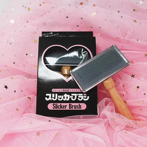S Soft Slicker Brush - Made in Japan