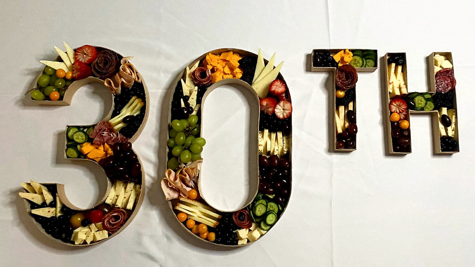 Cheese & Charcuterie Letters