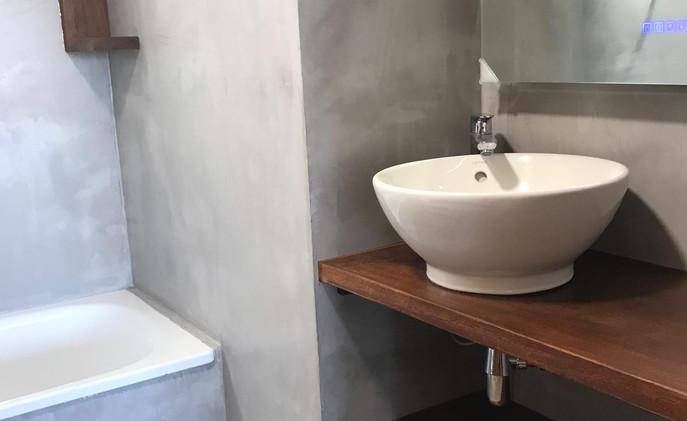 microcemento baño cocina Calafell