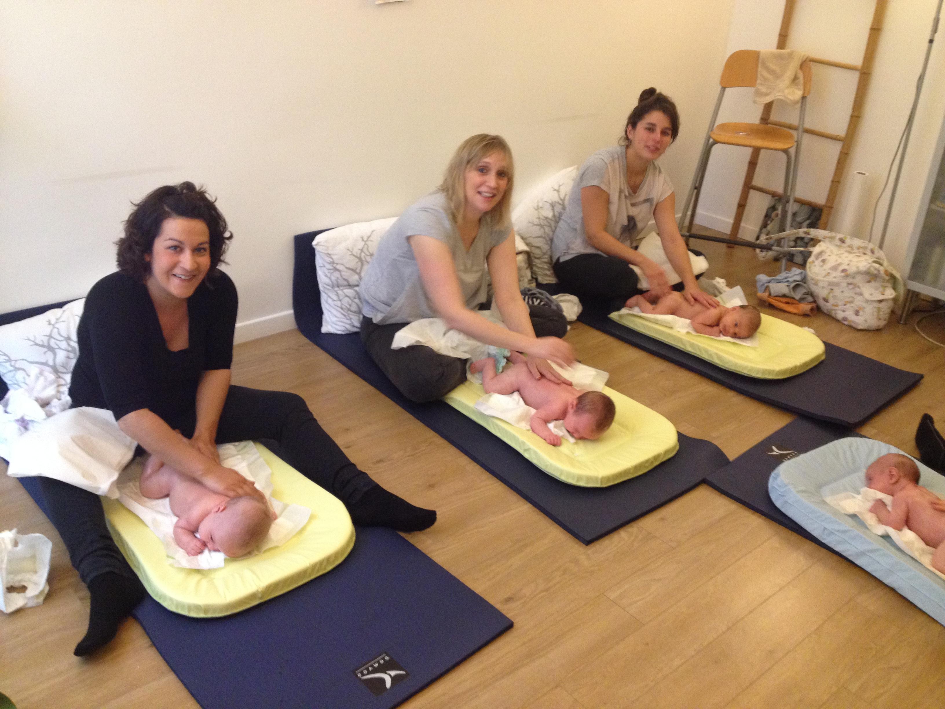 Atelier massage bébé et rigolades