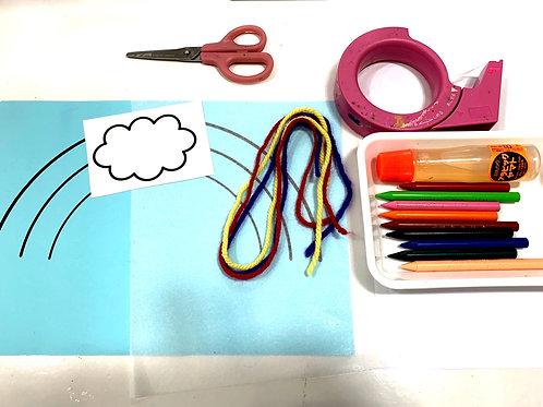 国立小学校受験工作⑧ハサミを使う制作2