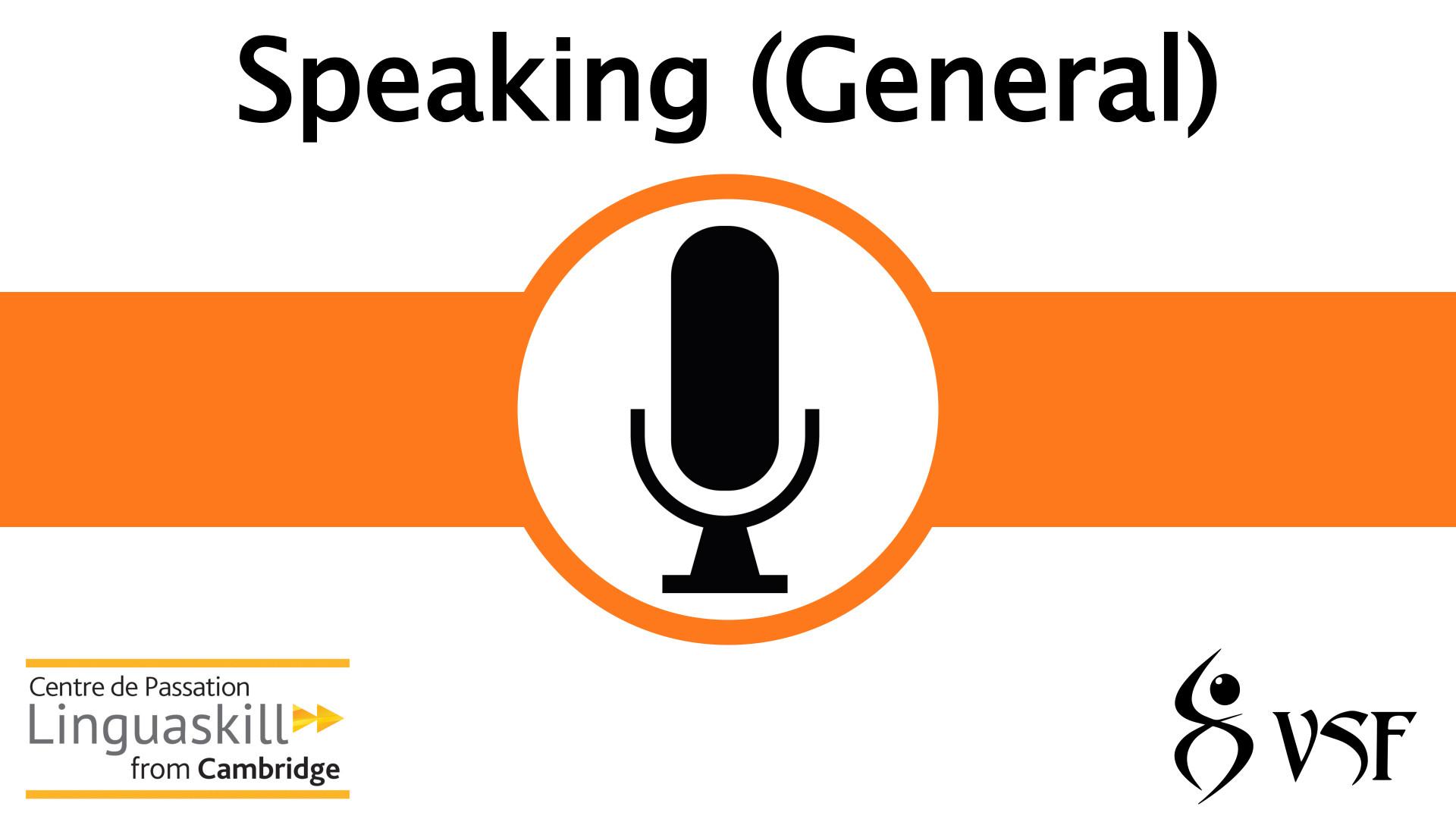 V1- Speaking (General)