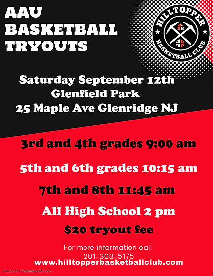 Copy of Basketball Tryouts Flyer Poster