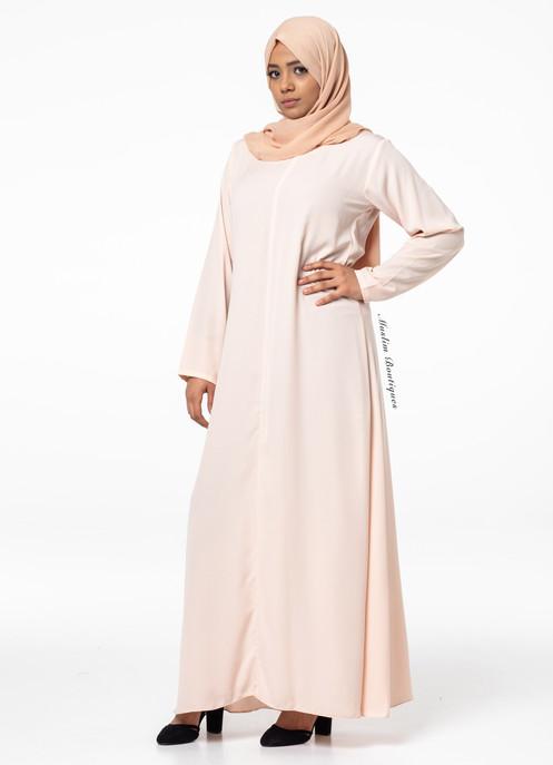 185d4dd8ee4aa Long Line Abaya - Pearl Blush