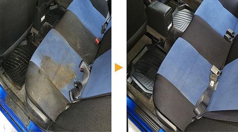 車内クリーニング シート汚れ STEAMER'S.JPG