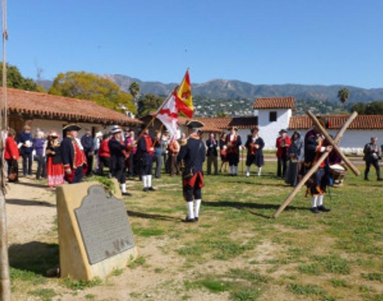 Reenactment of the founding of the Presidio of Santa Barbara. Photo by Michael H. Imwalle.