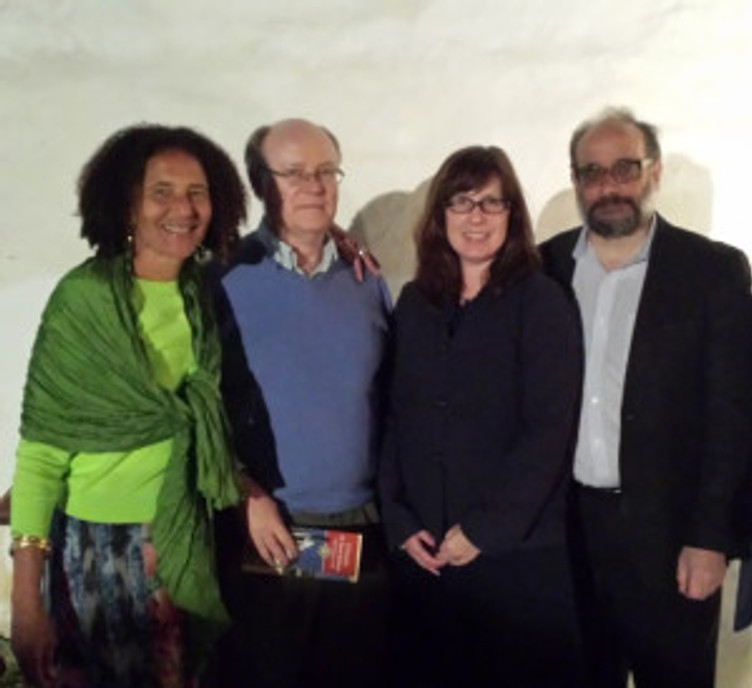 Alison Rose Jefferson, Bruce Robertson, professor of art history, UCSB, Anne Petersen and Ned Kaufman. Photo by Katie Sorenson.