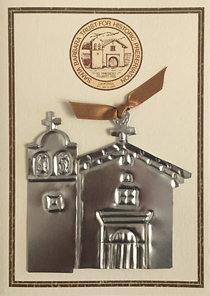 Hand-Forged Presidio Tin Ornament - Greeting Card