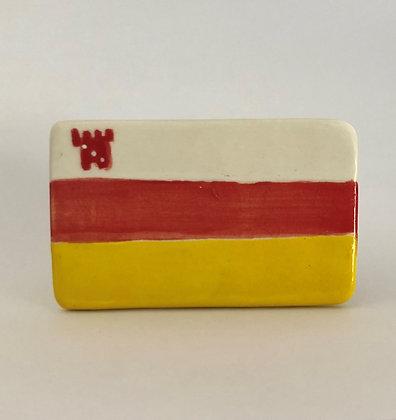 Santa Barbara City Flag Ceramic Magnet