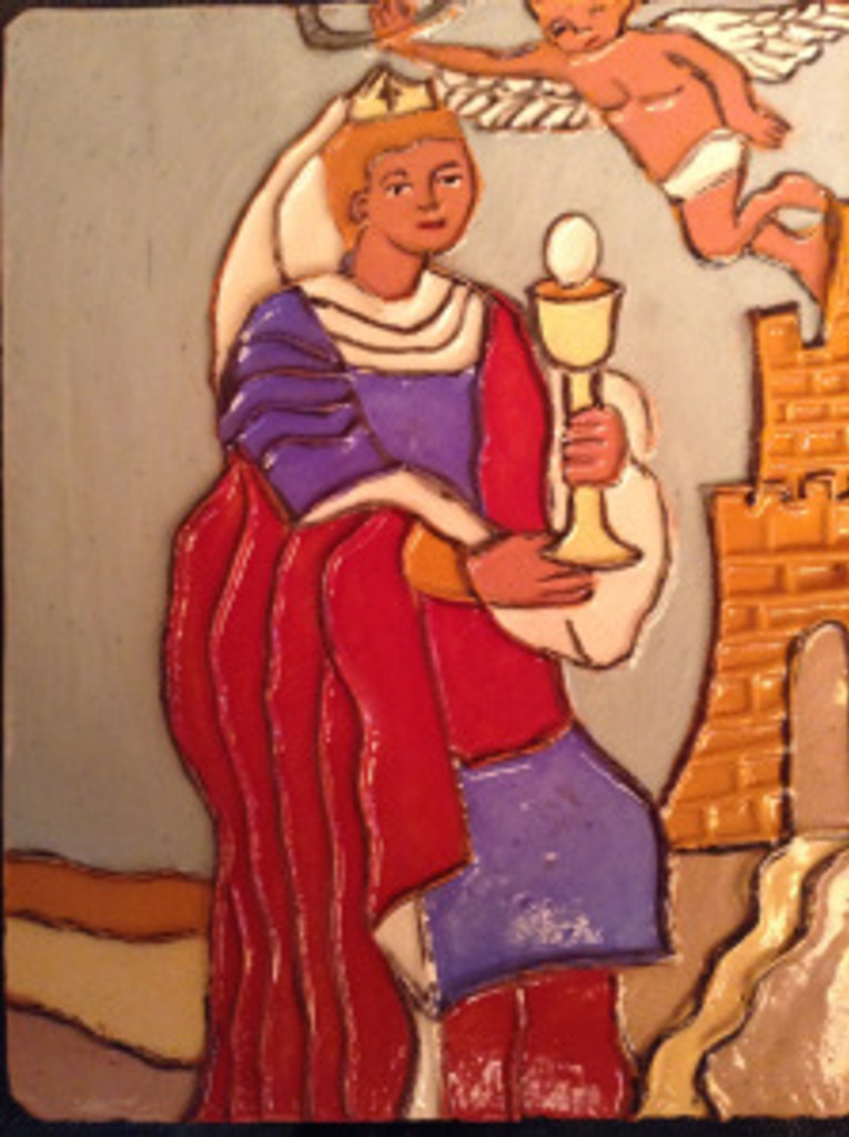 Saint Barbara tile by Armando de la Rocha. Photo courtesy of Armando de la Rocha.