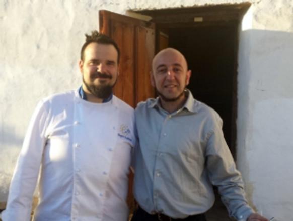 Chef Aingeru Etxebarria and Professor Iker Arranz. Photo by Anne Petersen.