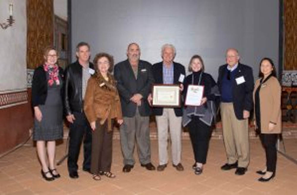 The Santa Barbara Conservancy receives the Obern Award. Photo by Clint Weisman.