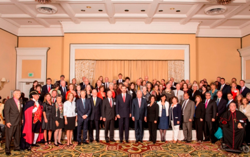 Attendees at SBTHP's reception for the Prince of Asturias, Prince Felipe on November 15, 2013. Photo by Clint Weisman Studio.
